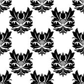 Bold black and white arabesque seamless pattern — Stock Vector