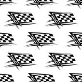 Black and white checkered flag seamless pattern — Stock Vector