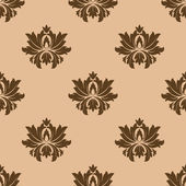 Beige seamless floral pattern background — Vecteur