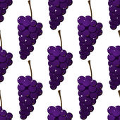 Seamless pattern of bunches of purple grapes — Stock Vector