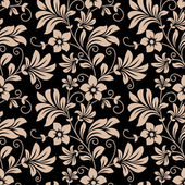 Vintage floral wallpaper seamless pattern — Stock Vector