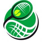 Tennis ball and racquet icon — Stock Vector #46682217
