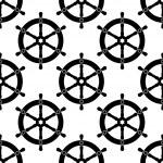 Vintage ships wheel seamless pattern — Stock Vector