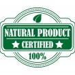 Guarantee label certifying a Natural Product — Stock Vector #46682251
