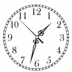 Dainty clock dial face — Stock Vector #46682363
