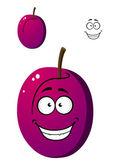 Rijp paarse pruim vruchten — Stockvector