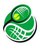 Tennis ball and racquet icon — Stock Vector
