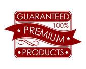 Guaranteed premium products label — Stock Vector