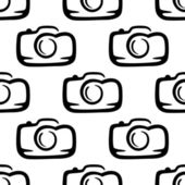 Seamless pattern of a compact camera — Stock Vector