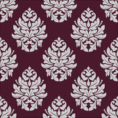 Vintage seamless pattern in carmine and white colors — Stock Vector