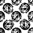 Seamless pattern of a proud lion — Stock Vector #47465991