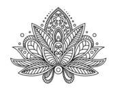 Flor de paisley persa ou turco — Vetor de Stock