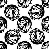 Seamless pattern of a proud lion — Stock Vector