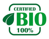 Green bio label or sign — Stock Vector