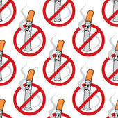 No Smoking seamless background pattern — Stock Vector