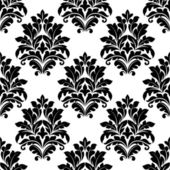 Damask seamless pattern with floral motifs — Stock Vector