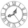 Old clock face with Roman numerals — Stock Vector #47501643