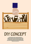 DIY concept with toolbox — Stock Vector