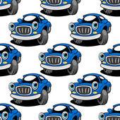 Patrones sin fisuras de un coche retro azul — Vector de stock
