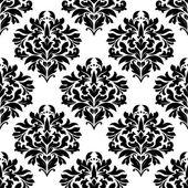 Бесшовный узор Арабески с цветочными мотивами — Cтоковый вектор