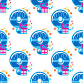 Number 9 childish seamless pattern — Stock vektor