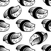 シームレスな寿司パターン — ストックベクタ