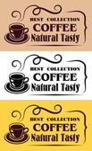 Best Collection Coffee labels — Stock Vector