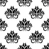 Floral damask seamless pattern background — Stock Vector