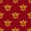 Maroon and yellow seamless floral pattern — Stock Vector #47782911
