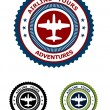 Airlines tour adventures symbol — Stock Vector