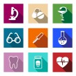 Set of colorful medical icons — Stock Vector #47783971