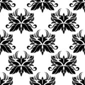 Seamless pattern with black flourishes — Stock Vector