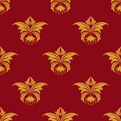 Maroon and yellow seamless floral pattern — Stock Vector