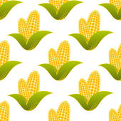 Seamless pattern of fresh corns — Stock Vector