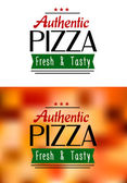 Authentic pizza labels — Stok Vektör