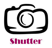 Doodle sketch camera with the word Shutter — Stock Vector