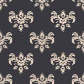 Cream colored seamless floral pattern — Stock Vector