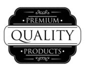 Black Premium Quality label — Stock Vector
