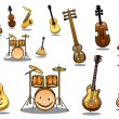 Cartoon musical instruments set — Stock Vector #48065749