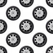 Automobile wheel seamless pattern — Stock Vector