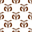 Wise old owl seamless background pattern — Stock Vector #48065907