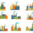 Factories and plants set — Stock Vector #48065921