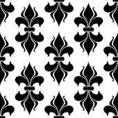 Fleur-de-lys seamless pattern — Stockvektor