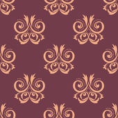 Purple and pink seamless floral pattern — Stock Vector