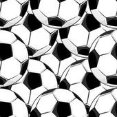 Seamless background pattern of footballs — Stock Vector