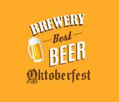 Pivovar a pivo nápis — Stock vektor