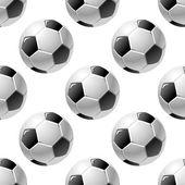Football or soccer ball seamless pattern — Vector de stock