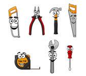 Set of cartoon DIY hand tools — Stock Vector