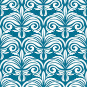 Blå och vita seamless mönster — Stockvektor