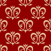 Swirling hearts seamless background pattern — Stok Vektör